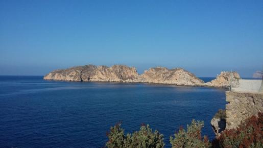 Vista de las islas Malgrats desde la costa.