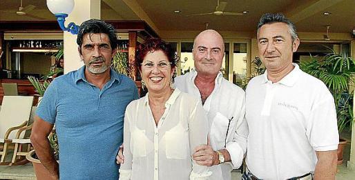 Fernando Vila, Joan Servera, Sally Mary y Antonio Domínguez.