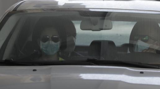 Joan Gual de Torrella ha salido esta mañana de la Comandancia de Guardia Civil de camino a la sede de la Autoridad Portuaria de Baleares.