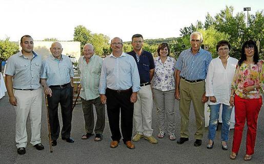 Sebastià Pastor Jr., Sebastià Pastor, Jaume Pastor, Sebastià Pastor, Sebastià Crespí, Francisca Roig, Pere Vic, Aina Crespí y Francisca Ballester.