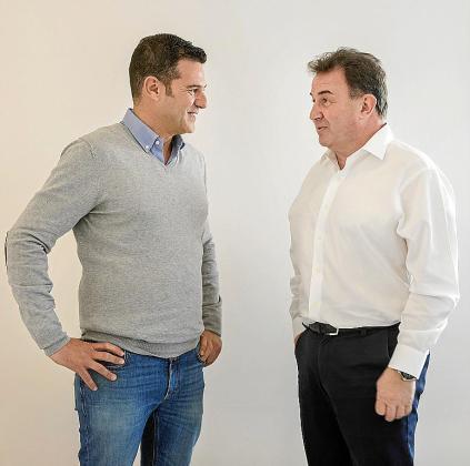 Martín Berasategui, derecha, junto a Chus Iglesias, CEO de Hit.