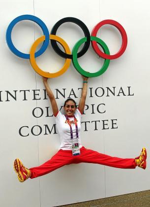 Marga Crespí posa para este diario en la zona internacional de la Villa Olímpica.