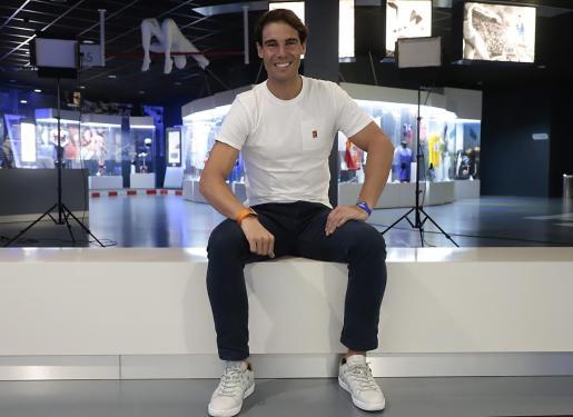 Imagen de Rafael Nadal en el museo de su centro deportivo en Manacor.
