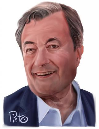 Caricatura de Joan Gual de Torrella.