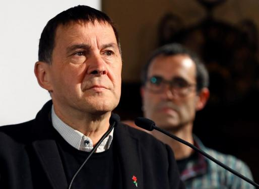Arnaldo Otegi en un acto político de EH Bildu.