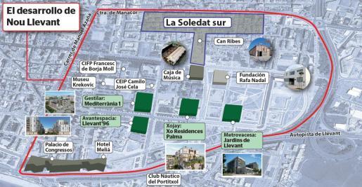 La barriada de Nou Llevant acogerá la expansión del campus tecnológico de la UIB, proyectos culturales y vivienda asequible