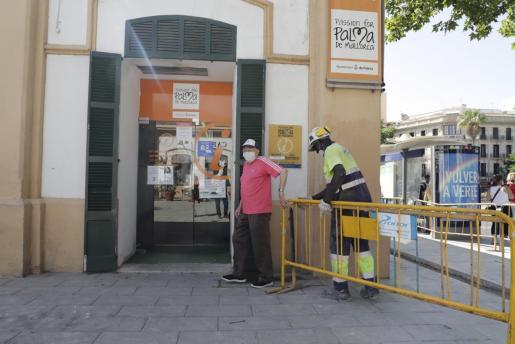 La oficina municipal de turismo de Palma de Plaça Espanya ha estado de obras hasta hace poco.