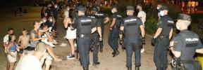 El fin de semana termina con sanciones a 38 locales y 235 jóvenes en Baleares