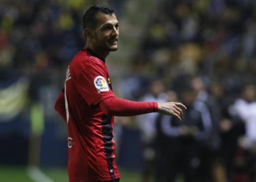 Imagen de Juan Diego Molina Stoichkov durante un partido con el Mallorca.