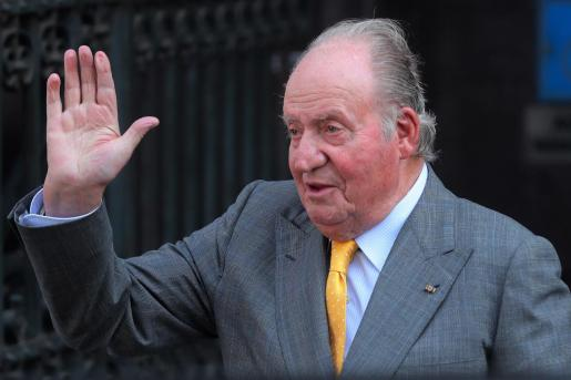 Fotografía de archivo del rey emérito Juan Carlos en Santiago (Chile).