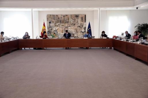 Pedro Sanchez, durante el Consejo de Ministros.