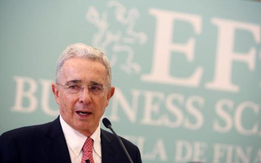 Fotografía de archivo del expresidente de Colombia Álvaro Uribe.
