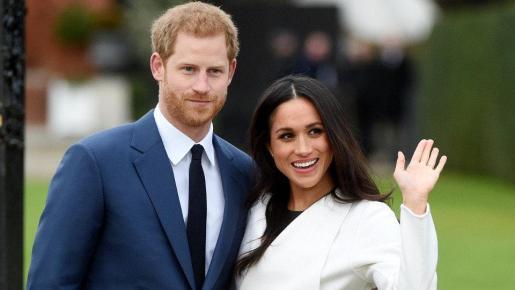 Meghan Markle y el príncipe Enrique.