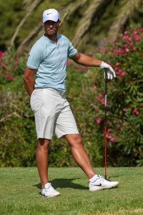 El tenista español Rafa Nadal, durante su participación en el Campeonato de Baleares Absoluto de Golf.