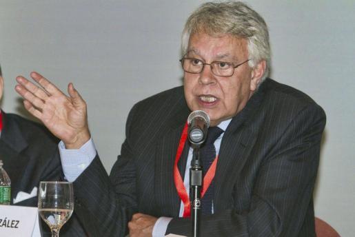 El ex presidente del Gobierno español Felipe González.