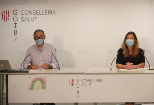 Javier Arranz y Patricia Gómez durante la rueda de prensa de este miércoles.