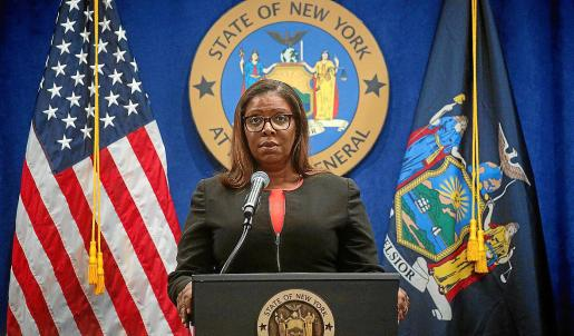 La fiscal general de Nueva York, Letitia James.
