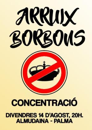 Cartel de la concentración de Arruix Borbons.
