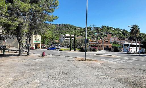 Vista de la zona donde el Consell de Mallorca tiene previsto emplazar la estación móvil de ITV.