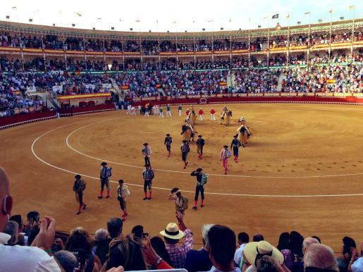 La Junta de Andalucía evaluará las imágenes sobre la corrida de toros celebrada en la plaza de El Puerto de Santa María (Cádiz).