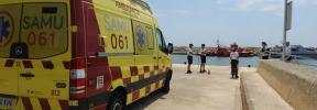 Un tripulante, evacuado en Puerto Portals tras presentar síntomas compatibles con el coronavirus