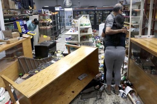 Una de las tiendas destrozadas tras los disturbios en Chicago.