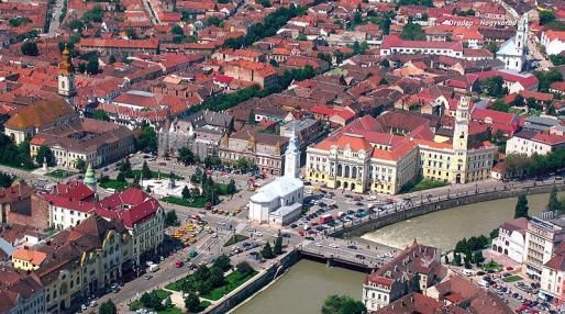 Imagen área de la ciudad de Oradea.