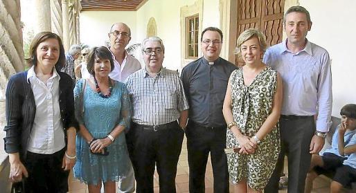 Catalina Sureda, directora insular de Cultura; Katia Julià, Francisco Pedregosa, Guillem Rosselló, Bartomeu Villalonga, Antonia Riutort y Jaume Amengual.