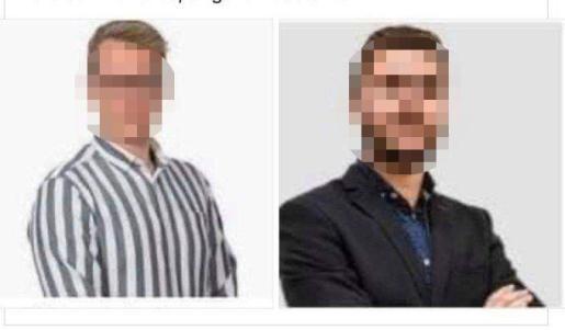 Imagen pixelada de los dos arrestados, que circula por las redes sociales con las caras descubiertas.