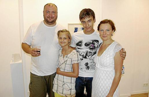 Ruslan Shman, Madzeya Shman, Vlad Altshuler y Olga Pons.