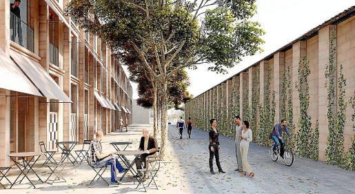 La calle Fornaris 34, junto a Can Ribes, acogerá una promoción de 36 viviendas.