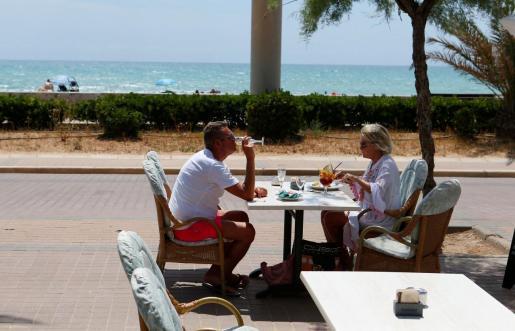 Turistas alemanes en Mallorca este verano.