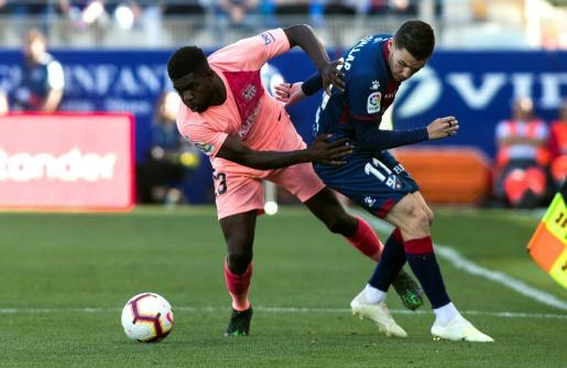 El defensa francés del FC Barcelona Samuel Umtiti.