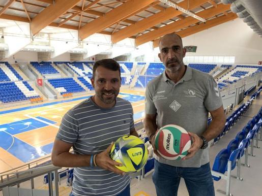 José Tirado y Marcos Dreyer, en el Palau d'Esports de Son Moix.