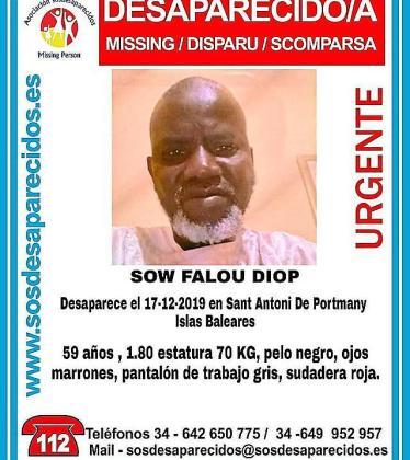 Cartek de S.O.S Desaparecidos.