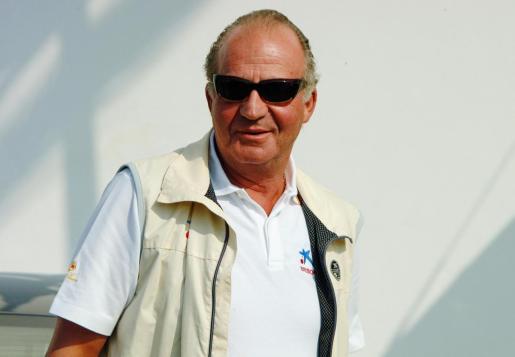 Juan Carlos I, en una imagen de archivo durante unas vacaciones en Mallorca.