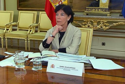 La ministra de Educación, Isabel Celaá, en una imagen de archivo.