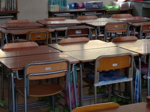 Imagen del aula de un colegio.
