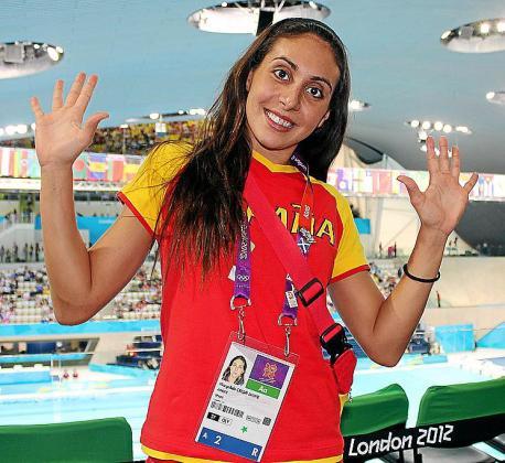Imagen de la integrante del equipo de sincronizada Marga Crespí.