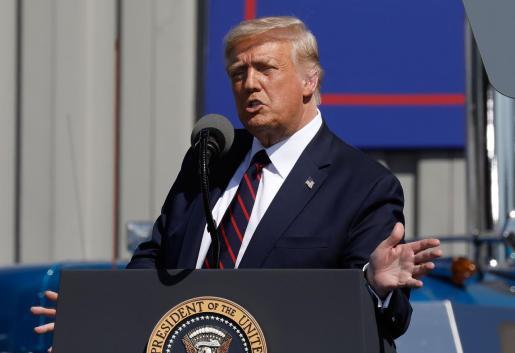 Imagen del presidente Trump en el reciente acto político.