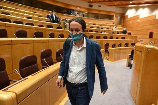 El vicepresidente segundo del Gobierno y líder de Unidas Podemos, Pablo Iglesias, en una reciente imagen tomada en el Senado.
