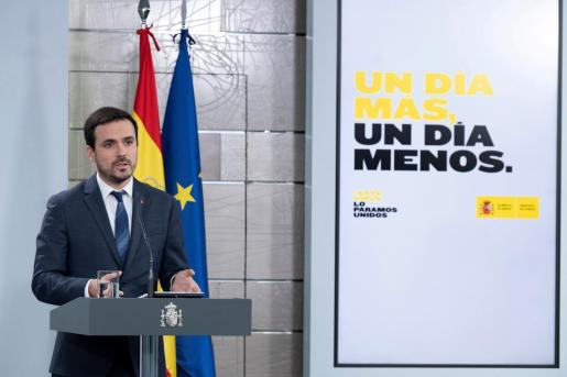 El ministro de Consumo, Alberto Garzón, ha recordado que, «desde el primer momento», el Ejecutivo ha mantenido que no descartaba volver a declarar el estado de alarma si era necesario ante el auge del coronavirus pero, de momento, no es su opción.
