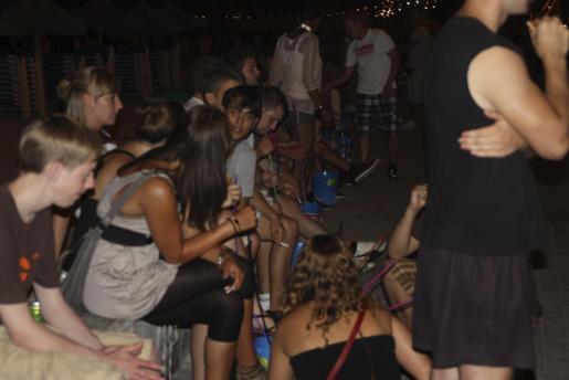 Botellón en Playa de Palma el pasado mes de julio.