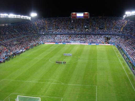 Estadio de La Rosaleda.