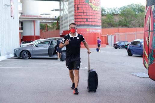 Luis García Plaza, este martes saliendo del estadio.
