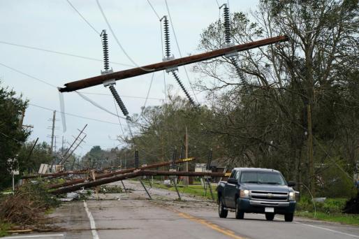Imagen de los destrozos provocados por el huracán en Iowa.