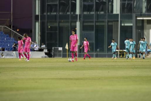 Momento del partido entre el Levante y el Mallorca.