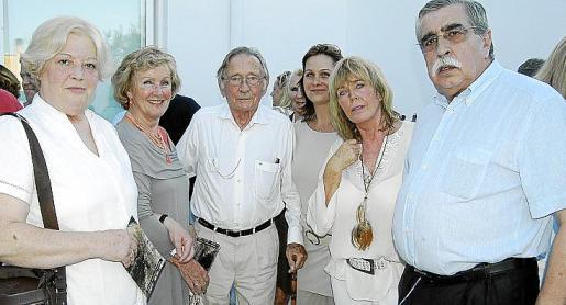 Pilar Salamanca, Renate Honent, Gerhard Stein, Mirjam Born, Heidi Stein y José Luis Rosselló en la Fundació Lichter.