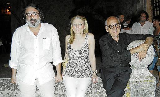 Joan Valent, Myriam Blundell y Michael Nyman, momentos antes del concierto.