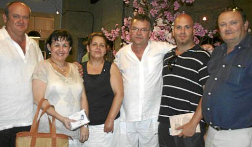 Jaume Reynés, Lis Riera, Antonia Ferrá, Jos Gayá, Jordi y Miguel Ángel Reynés.